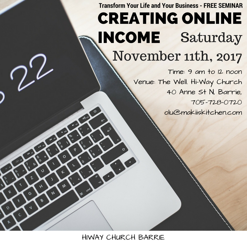 Creating Online Income FREE Seminar at HIWAY CHURCH