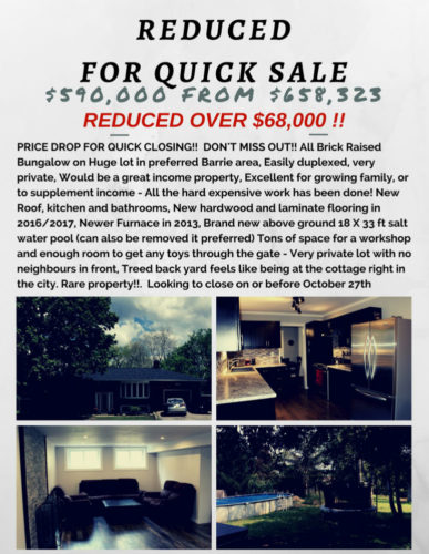 reducedfor quick sale287 HURONIA