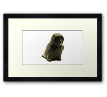 inuit carving framed print a
